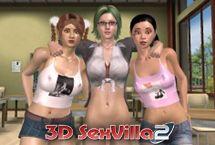 SexVilla jeu sexuel avec une fille de l'école porno étudiant 3D