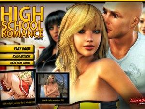 Lycée Romance sexe jeu avec 18 étudiants