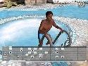 Jeu porno gay gratuit avec garcon sombre dans la piscine