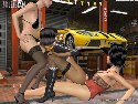 Jeux de sex lesbian avec filles trio garage