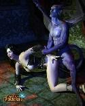Diable monstre baise son esclave