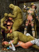 Porno orgie de fantaisie monstre